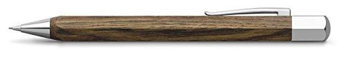 Faber-Castell Ondoro - Portaminas con cuerpo en madera de roble ahumado, con forma hexagonal, mina de 0.7 mm