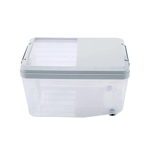 Dispensador de comida de cocina 5 / 10L Caja de almacenamiento de plástico Caja de almacenamiento Cereva Cubierta Caja de arroz Insecto Resistencia a la humedad Cilindro de arroz con taza de arroz med