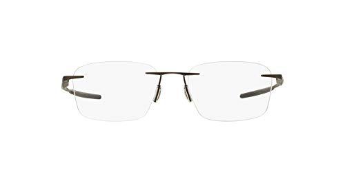 Oakley Men's OX5115 Wingfold Evs Titanium Square Prescription Eyeglass Frames, Satin Pewter/Demo Lens, 53 mm