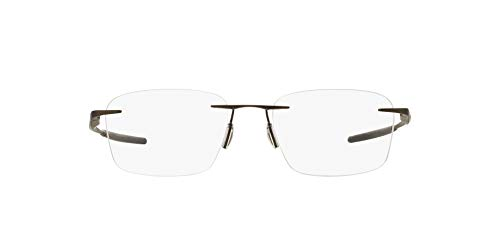 Oakley Men's OX5115 Wingfold Evs Titanium Square Prescription Eyeglass Frames, Satin Pewter/Demo Lens, 53 mm
