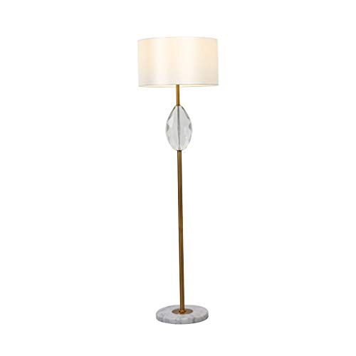 Floor Lamp for Living Room-Modern Staande Lamp met Doek lampenkap-Creative Simple BedroomLED lezen Tall Pole Lamp LED (Color : Beige, Size : 45cm*158cm)
