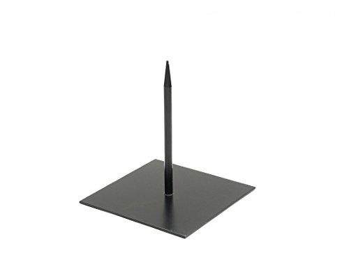 NaDeco Metallständer 12x12cm schwarz Dekoständer Objektständer Metallständer für Skulpturen Metallständer mit Fuß