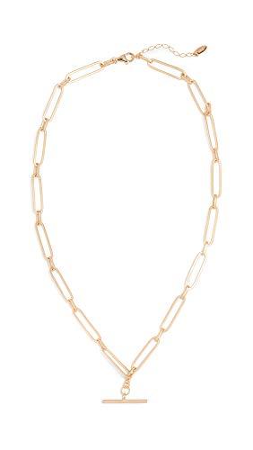 Maison Irem Women's Chain T Bar Choker Necklace, Yellow Gold, One Size