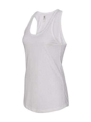 Next Level Apparel Women's Tear-Away Tank Top, White, Large