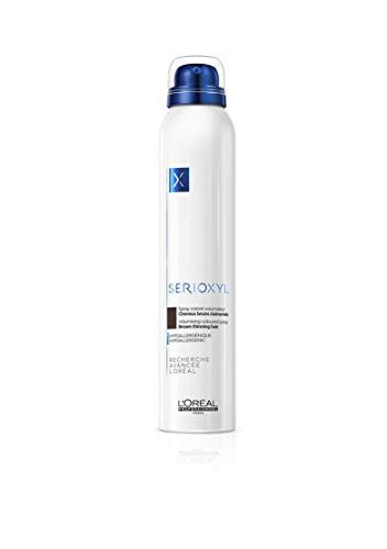 L'Oréal Professionnel Paris Serioxyl Spray Braun, kräftigendes Farbspray für dünner werdendes Haar, für mehr Haarfülle, 200 ml