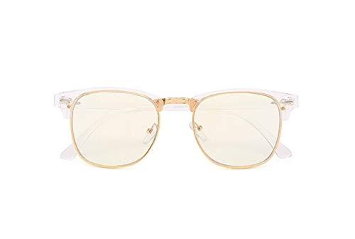 Yi-xir diseño Clasico Anti Blue Light Gafas Hombres Gafas de computadora Marco para Mujer Myopia Ocular Net Ocular Gafas Marco Hombres Hombres Falsos Gafas Moda (Frame Color : Transparent)