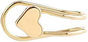 Heart Shape Ear Cuff Clip-On Earrings Stud Earrings Ear Cuffs Clip-On Earrings Girls Jewelry for Women Girls