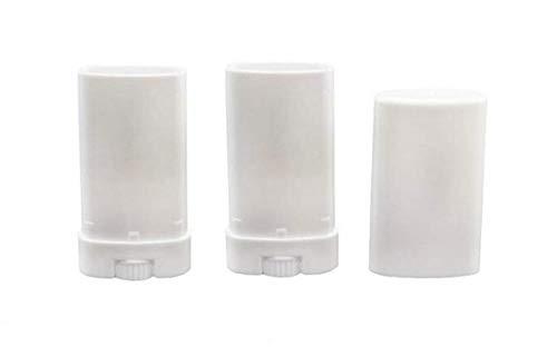 10 UNIDS 15 ml Vacío de Plástico Desodorante Crayón Bálsamo Labial Lápiz Labial DIY Lápiz Labial Caso Titular de Envase de Muestra de Cosméticos con Fondo Inferior y tapa