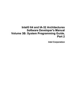 Intel® 64 and IA-32 Architectures Software Developer's Manual, Volume 3B: System Programming Guide, Part 2