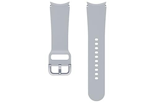Samsung Correa de reloj Sport Band (FKM) - Correa de reloj oficial Samsung - 20mm - S/M - Plata