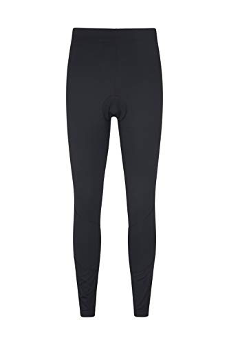 Mountain Warehouse Revolution Mens Cycle Leggings - Lightweight Cycling Tights, Breathable Bike Pants, Easy Care - Best for Biking, Running & Outdoor Activities Black M