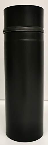 Pelletofen Rauchrohr diverse Größen und Varianten D 80mm mit Dichtung (Rostfreier Edelstahl, 0,25m)