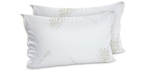 Coppia cuscini letto Memory Foam alti 22cm- Fodera Aloe Vera-Cuscino Cervicale-Guancale Memory foam-Cuscini Memory-Cuscuni letto matrimoniale Mod.Gea