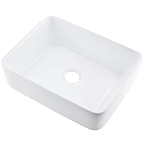 VCCUCINE Rectangle Porcelain Undermount Bathroom Sink