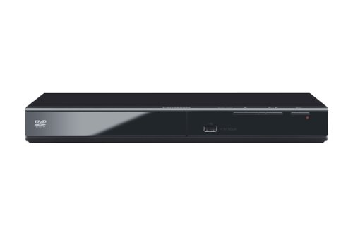 Panasonic DVD-S500EG-K Eleganter DVD-Player (Multiformat Wiedergabe mit xvid, MP3 und JPEG, USB 2.0) schwarz