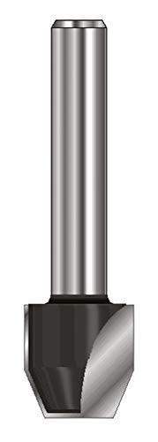 ENT 13664 Fasefräser und Bündigfräser HW (HM), Schaft (C) 8 mm, Durchmesser (A) 12,7 mm, B 12,7 mm, E 45°, D 32 mm
