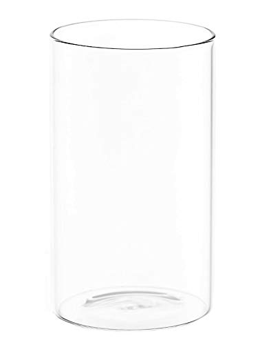 BOROSIL Highball Glasses Set of 6 | Ultra Clear | Microwave and Dishwasher safe | VISION CLASSIC SERIES 16oz