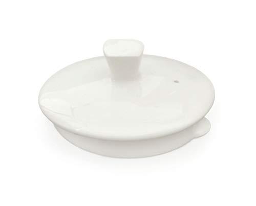 Buchensee Ersatzdeckel für Teekannen 1,5 Liter mit runder Öffnung. Deckel in fein-cremigen Weiß aus Fine Bone China.