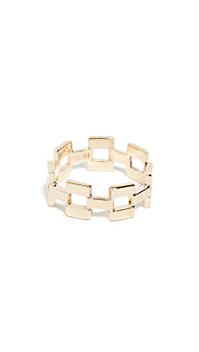 Jennifer Zeuner Jewelry Women's Eliza Thick Ring, Yellow Vermeil, 7