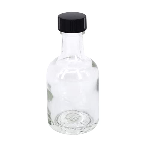 Nutley's 50ml Miniature Glass Bottles: Pick Quantity and Lid Colour (50)