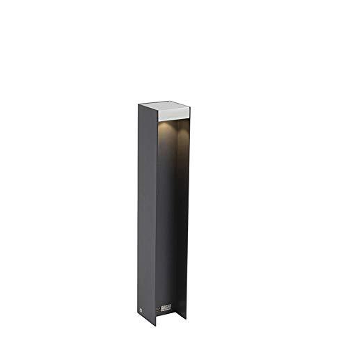 QAZQA Moderne staande buitenlamp aluminium IP55 incl. LED - Sleepy Aluminium Rechthoekig LED inbegrepen Max. 1 x 7 Watt