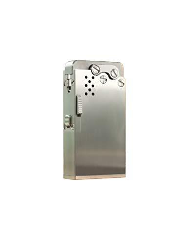 【WDMART】 純銅 自動 灯油ライター オイルライター メタルライター 葉巻ライター ワンボタン点火 ハイエンドギフト アートワーク コレクション おしゃれ 登山、キャンプ、防災に最適(灯油を含んでいません) (ステンレス鋼)