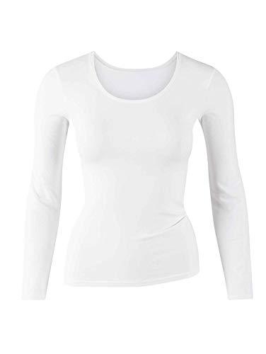 Calida Damen Top langarm Comfort Unterhemd, Weiß (Weiss 001), 50 (Herstellergröße: L = 48/50)