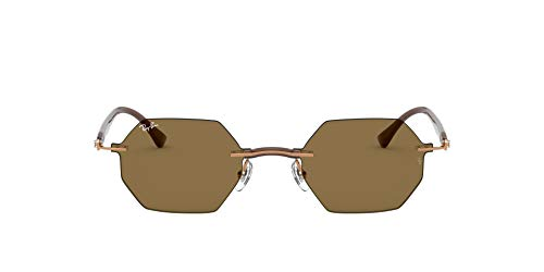 Ray-Ban RB8061-155/73 Gafas, Marrón, 53 Unisex Adulto