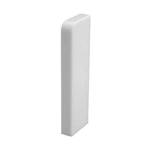 Trevendo® 10 Stück Endstück rechts weiß für Sockelleiste Fußleiste 58 mm und 60 mm Höhe