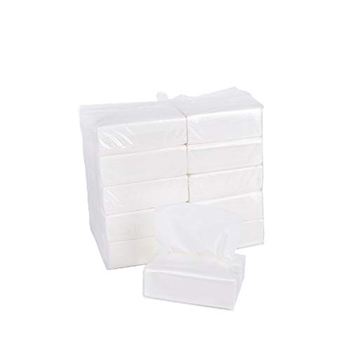 Gatherfun Facial Tissue 3-Ply Soft Smooth Clean 110 Tissues/Bag, 10 Bags/Pack (1100 Tissues Total)