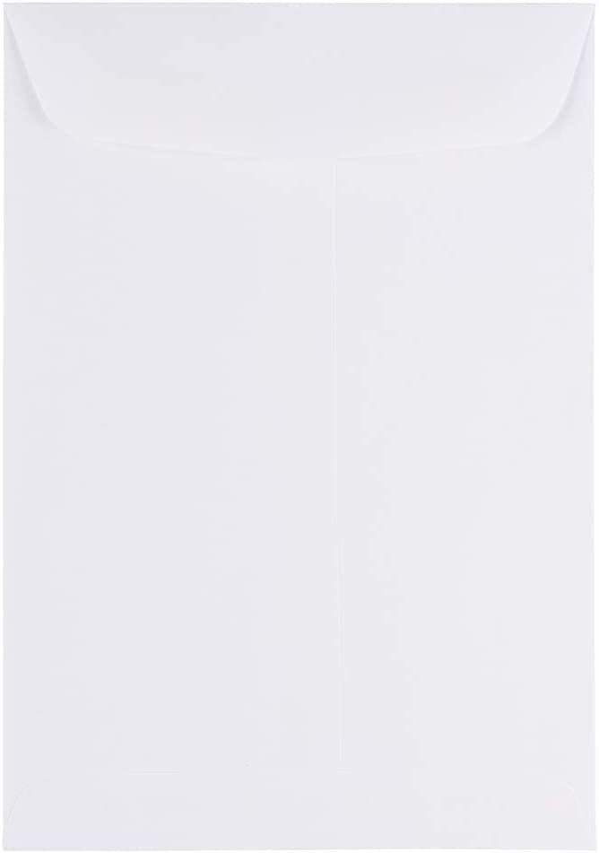JAM PAPER 7 x 10 Open Industry No. 1 End White Low price Commercial - Catalog Envelopes