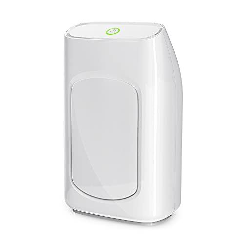 Deumidificatore elettrico Ambiente Casa, Con tanica estraibile dell'acqua da 700 ml e tasso di deumidificazione elevato (300mL/24h), Dispositivo Certificato CE con Funzionamento Silenzioso (33 db)