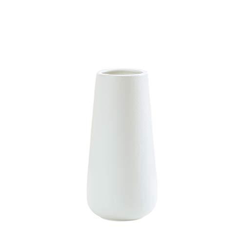 Snow White Ceramic Flower Vase for Home Décor, Design Box Packaged, 11 Inch