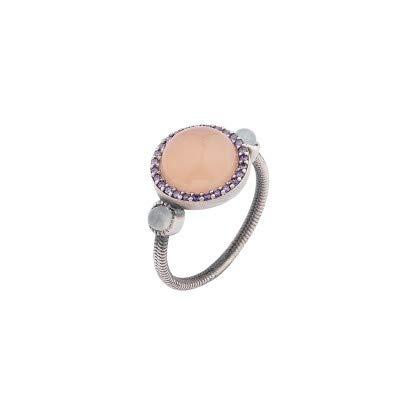 Anillode plata.Calzedonia rosa.Sunfield.AN060885/15