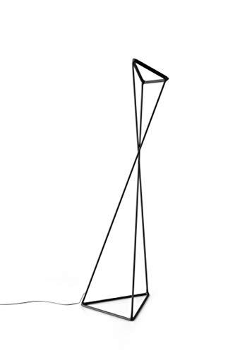Tango D77 LED vloerlamp, zwart metaal LxBxH 47,5 x 54 x 167 cm 3000 K 2325 lm