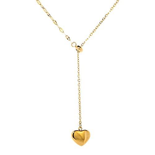 Collar de moda simple exquisito collar de tracción de amor dorado femenino cadena de clavícula salvaje temperamento personalidad tendencia Corea