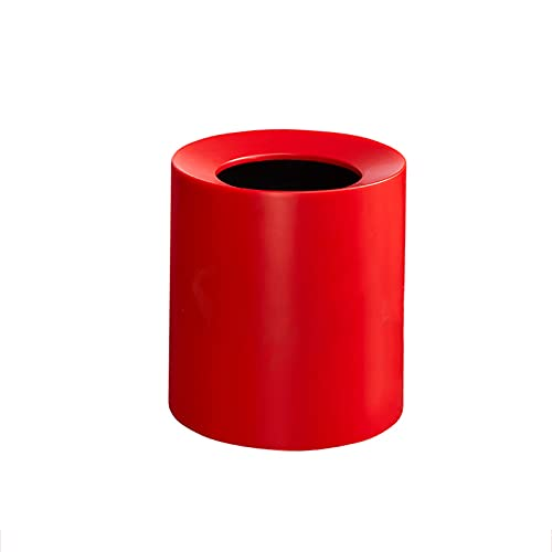 DAGCOT Cubos de Basura para Exterior Baño Basura Bote de Basura Bote de Basura Bote de Basura para el hogar baño baño baño Sala de Estar Oficina Oficina Papelera de contenedor de Basura (Color : Red)