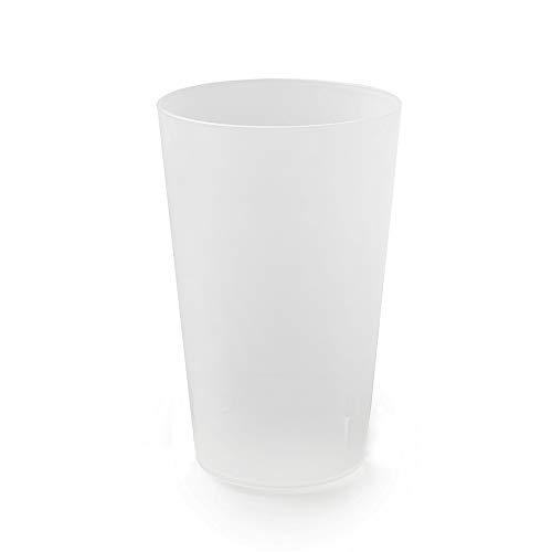 100 Gobelets Réutilisables | Plastique Polypropylène Rigide 30cl (Givré)