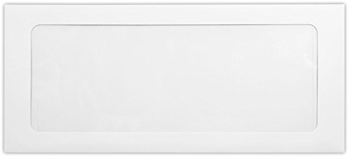 #10 Full Face Window Envelopes w/Peel & Press (4 1/8 x 9 1/2) - 80lb. White (1000 Qty) | Perfect for Checks, Invoices, Letterhead, Letters, Statements | FFW-10-80W-1M