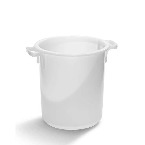 Cuve ronde - capacité 40 l - conteneur apte contact alimentaire - cuve de stockage - cuve HDPE - conteneur polyéthylène - conteneur résistant avec poignées