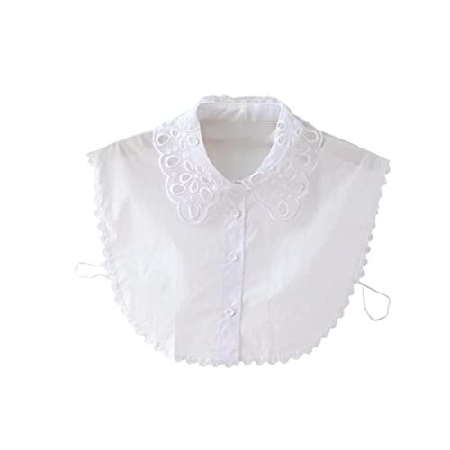 Sraeriot Elegante Encaje Collar Estilo Simple Blusa Desmontable Media Camisa para Niñas Y Mujeres Blancas, Tapas (Incl. Camisetas / Camisetas Sin Mangas), Tops