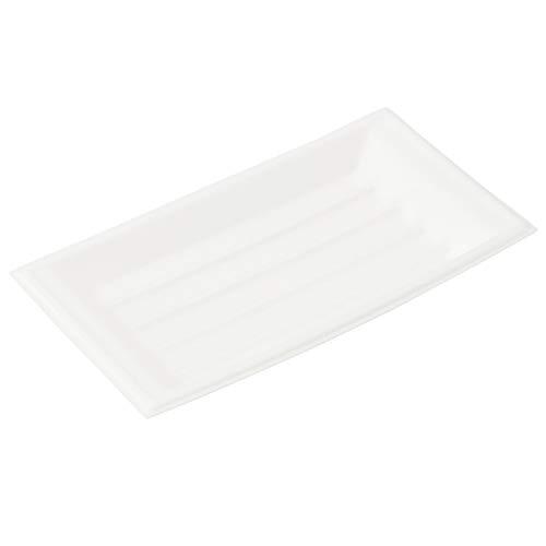 スマートマットライト ストリックスデザイン 舟皿 大 日本製 100枚 白 19.5×10.7cm 使い捨て食器 業務用 イベント 屋台 SG-050