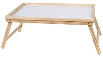 Mesa de Desayuno Plegable de Madera 50 x 31 x 21 cm, Bandeja Plegable Cama auxilia Multiusos