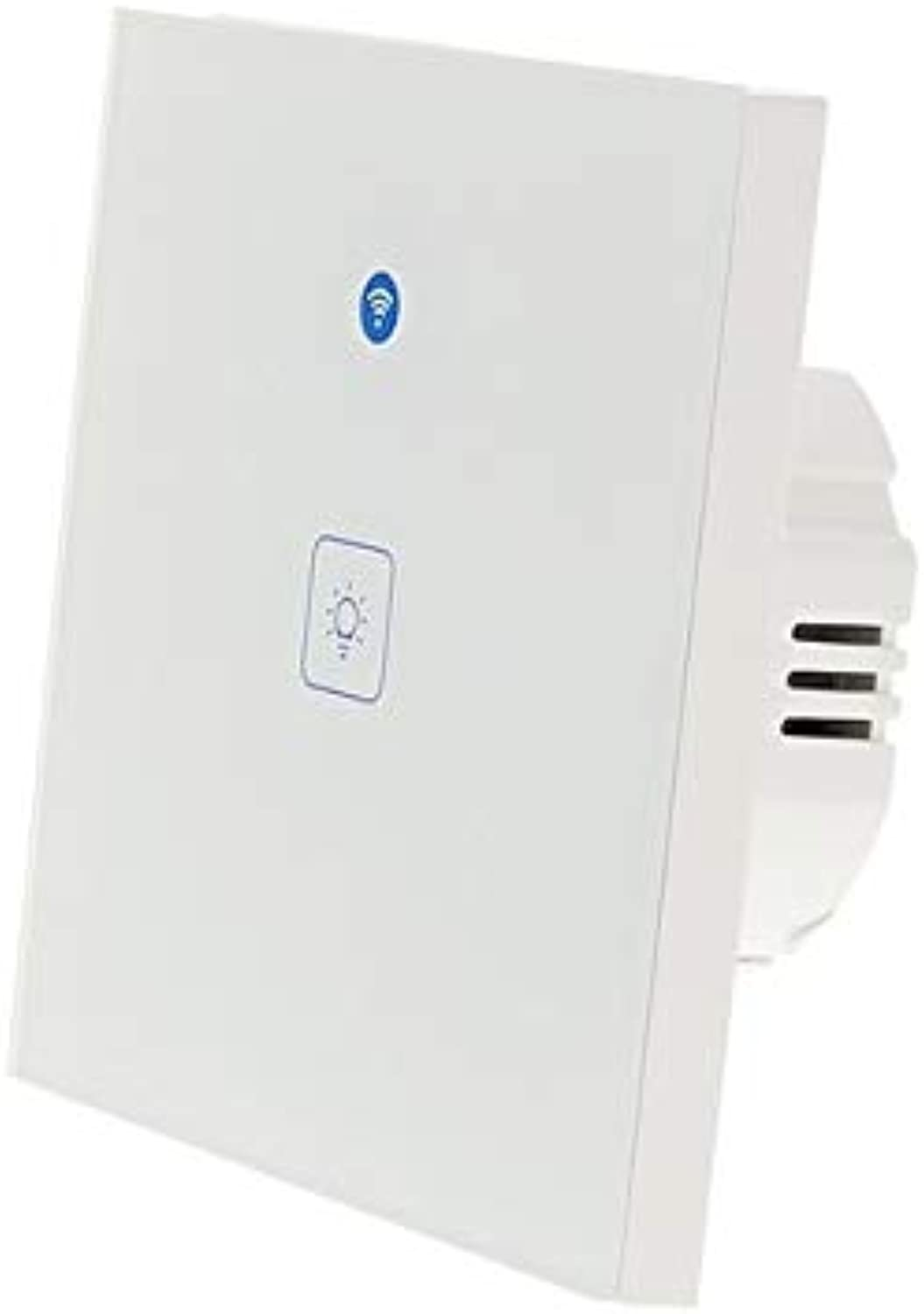 Touch Switch Smart Light Switch Panel Wall interruptor 1 2 3 Gang WiFi Light Switch EU Standard Work with Alexa Google Home  (color  1 Gang, Voltage  AC 90V 250V)