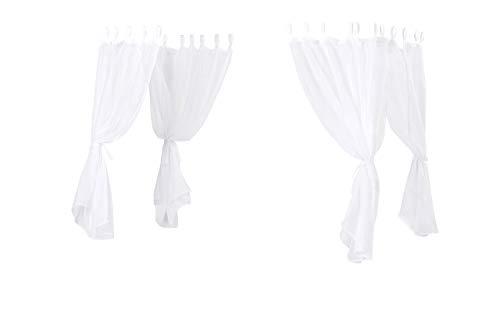 Hoppekids Basic Baldachin für Himmelbett, Polyester, Weiß, 90 x 200 cm