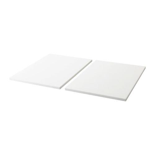 IKEA TROFAST Regalboden in weiß; 2 Stück