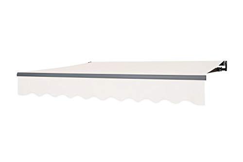 empasa manuelle Gelenkarmmarkise Markise Sonnenschutz 350 x 250 cm in der Farbe Elfenbein