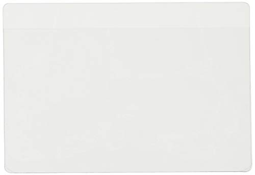 Cardinal HOLDit! Self-Adhesive 3 x 5-Inch Index Card Pocket, Clear, 100 Pack (21150CB)