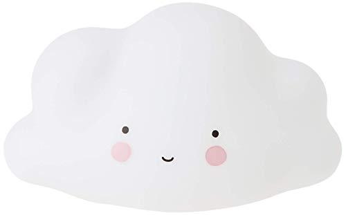 A Little Lovely Company LTCW025 - Lámpara en forma de nube, color blanco, plástico