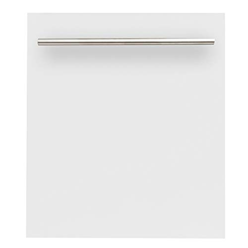 24 in. Top Control Dishwasher in White Matte with Stainless Steel Tub and Modern Style Handle